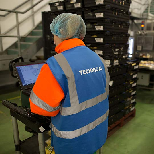 Photograph of technical employee at Barfoots UK