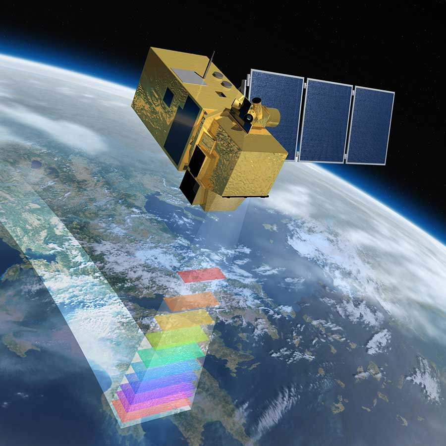 Image of the Sentinel 2 satellite which Barfoots use to monitor their crops
