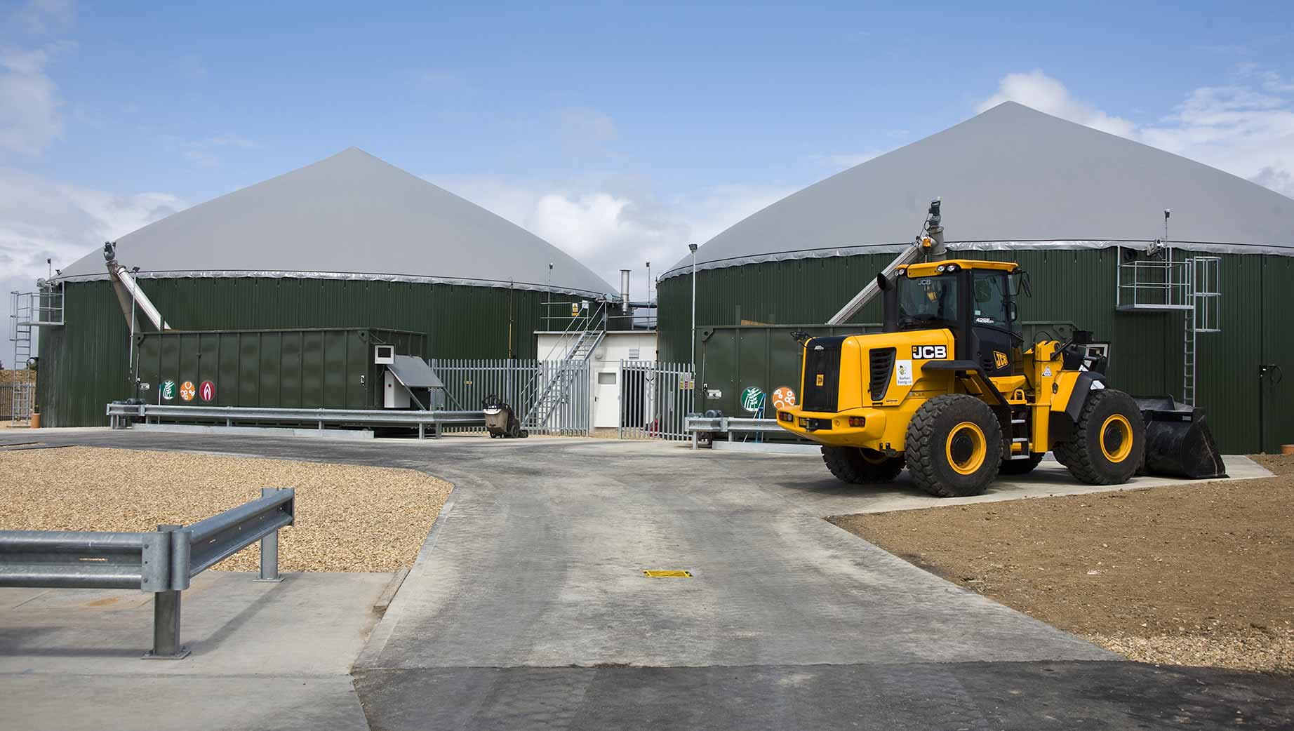 Photograph of the Barfoots Anaerobic Digester