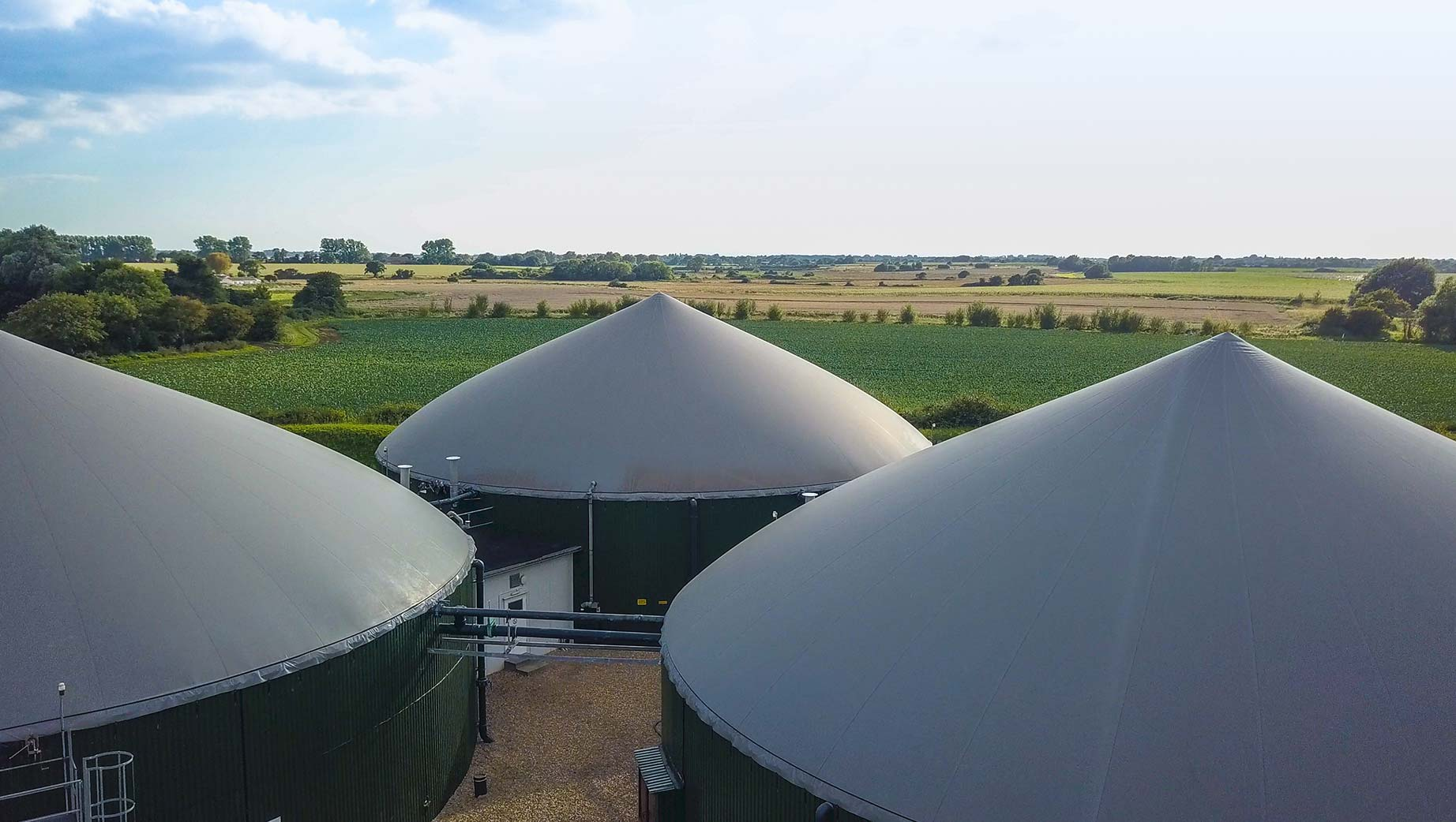 Photograph of the Barfoots Anaerobic Digesters